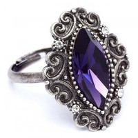 Retro Elegant Crystal Ring-Fashion Jewelry
