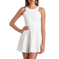 RACER FRONT JACQUARD SKATER DRESS