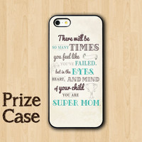 Quote for Mom Phone Case, Samsung Galaxy S4, iPhone 5 Case, iPhone 5S, iPhone 5C, Personalized Covers,Text Super Mum, Mother Day iPhone Case