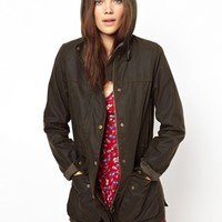 Barbour Check Lined Hooded Jacket
