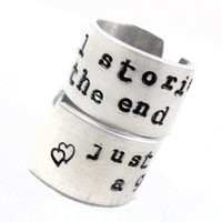 We&#x27;re All Stories In the End... Doctor Who Ring Set | foxwise