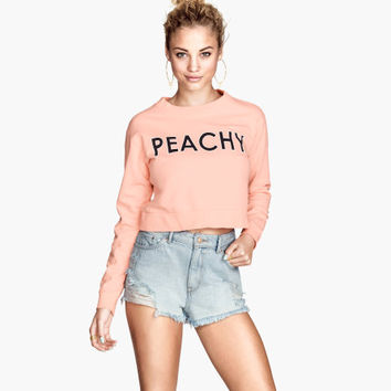 Cropped Sweatshirt - from H&M