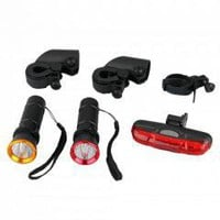 300LM CREE LED Q5 Bike Bicycle Headlight + 5 LED Rear Light