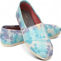 Blue Palm Trees Vegan Women's Classics