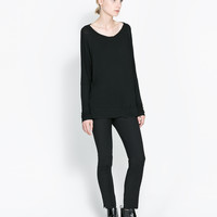 VISCOSE BOAT NECK T-SHIRT