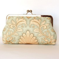 Silk Lined Floral Frame Kisslock Clutch by FoxburyAndCo on Etsy