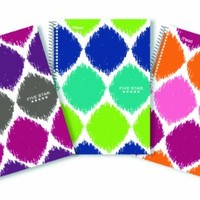 Five Star Style Spiral Notebook, College Ruled, 2 Subject, 6 x 9.5 Inches, 100 Sheets, Assorted (08236)