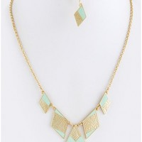 Mint Flat Diamond Necklace Set - 29 N Under