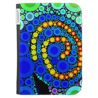 Bright Colorful Concentric Circles Swirl Pop Art