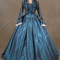 Civil War Victorian Ball Gown Formal Period Dress Reenactment Clothing 170 L