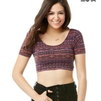 SOUTHWEST SCOOP-BACK CROP TOP