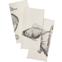 Set of 3 Sealife Guest Hand Towels | Thomas Paul | Hand Towels | BurkeDecor.com
