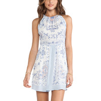 BCBGMAXAZRIA Cambria Dress in Light Crystal Blue Combo