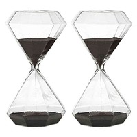 Perfect Timing Diamond Hourglass, 30min (Set of 2) by Amalfi