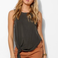 Project Social T Side-Tie Tank Top - Urban Outfitters