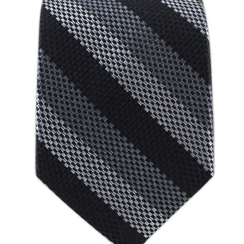 Grenafaux Stripe - Black/Grays (Skinny) from TheTieBar.com - Wear Your Good Tie Everyday