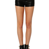 Papaya Clothing Online :: MINI LEATHERETTLE SHORTS