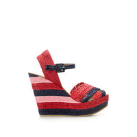 PLAITED PLATFORM WEDGE