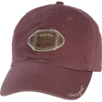 Life is good Men's Football Tattered Chill Hat