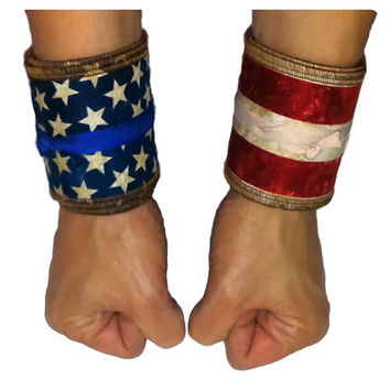 "Athletic Wrist Wraps ""American Flag"""