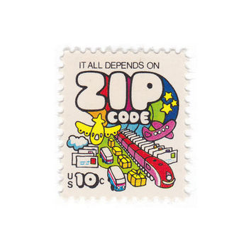 "Qty of 10 - Unused Vintage Postage Stamps ""Zip Code"" 10 cent stamp - No. 1511"