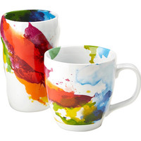 Waechtersbach Double Walled Grip Mug And Mug On Color