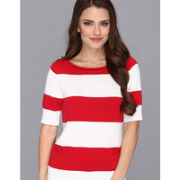 Pendleton Petite Two Stripe Pullover
