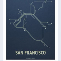 "San Francisco 18""x24"" Poster - Line Posters - Artwork : Thrillist"