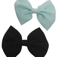 Solid Chiffon Clip Bow 2-Pack | Wet Seal