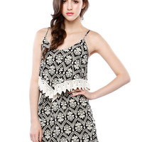 Papaya Clothing Online :: PAISLEY TRIMMING ROMPER