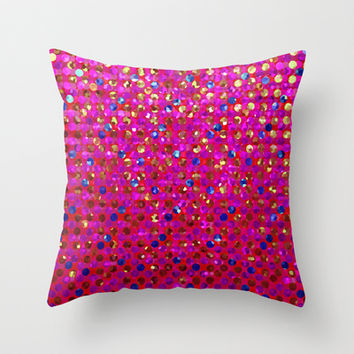 Polkadots Jewels G216 Throw Pillow by MedusArt | Society6