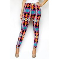 Neon Kaleidoscope Leggings