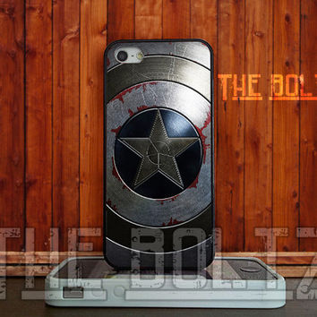 Captain America Winter Soldier for iPhone 4/4s/5/5s/5c - iPod 4/5 - Samsung Galaxy s3 i9300/s4 i9500 - Rubber/Plastic
