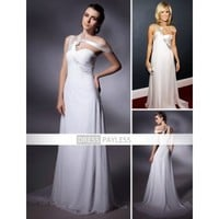 A-line One Shoulder Floor-length Chiffon/ Elastic Satin Grammy Formal Evening Dress (TEDXL045) [TEDXL045] - $113.29 :