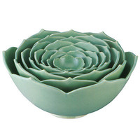 NESTING LOTUS BOWLS | Whitney Smith, Ceramic, Flower | UncommonGoods