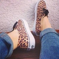 Vans Leopard Authentic (Black/Brown)