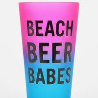 Fade Out Text Pint Glass - Urban Outfitters
