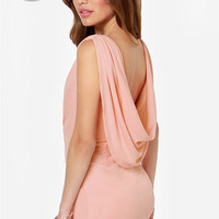 LULUS Exclusive Swank You Very Much Backless Peach Dress