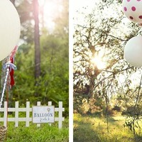 "36"" Round Jumbo Balloons in 25 NEW colors- As seen in Brides Magazine"