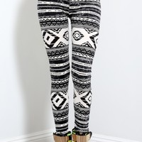 Tribal Print Soft Leggings | MakeMeChic.com