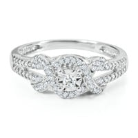 1/8 ct. tw. Round Diamond Promise Ring in Sterling Silver