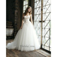 Ball Gown Sweetheart Chapel Train Tulle Wedding Dress WBG08349 - Wedding Dresses