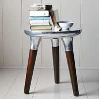 Aluminum Wood Side Table | west elm