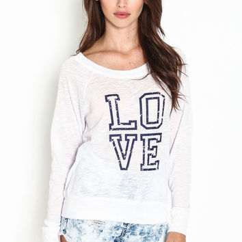 LOVE ATHLETIC KNIT TOP