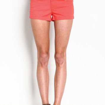 HIGH WAIST COLOR SHORTS