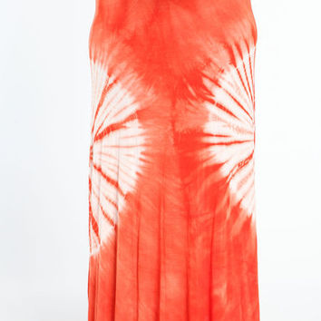 PLUS SIZE TIE DYE MAXI SKIRT