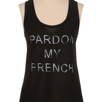 Pardon my french graphic tank