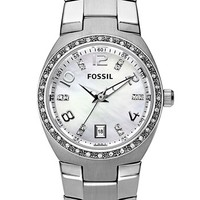 Women's Fossil Crystal Dial Watch, 28mm