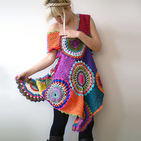 Crochet Retro Dress/Tunic by subrosa123 on Etsy