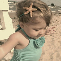 Sparkly Starfish Headband for Your Little by ShepherdoftheSea